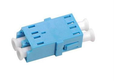 China LC - LC Duplex Fiber Optic Adapters , Fiber Optic Cable Adapter Single Mode supplier