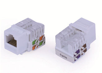 China White Network Keystone Jack RJ45 Cat5e , UTP Keystone Jack 8P8C 90 Degree supplier
