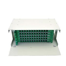 China Frosted Texture Optical Fiber Distribution Frame 72 Port Standard 19 Inch Rack Type supplier