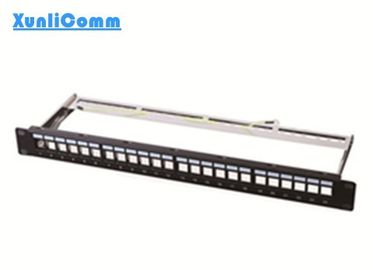 China FTP Empty Patch Panel 1.5mm Thickness Metallic Frame Superior Performance supplier