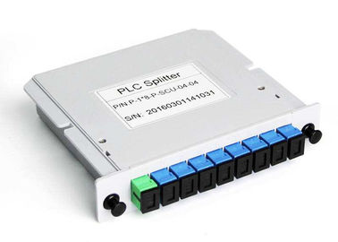 FTTH GPON LGX Cassette Type Fiber Optic Splitter , Fiber Optic PLC Splitter