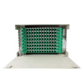 96 Port Optical Fiber Distribution Frame Reliable For FTTH FTTB FTTX Network