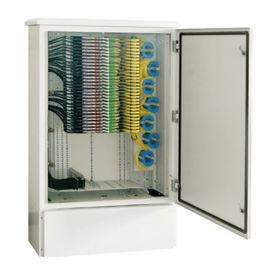 Weather Proof FTTX Fiber Optic Cabinet 712 Port Galvanized Steel Material