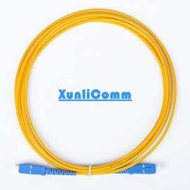 FTTH Simplex SC-SC Fiber Optic Patch Cord 3 Meters Yellow Color Low Insertion Loss