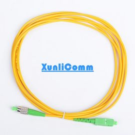 Simplex Fiber Optic Patch Cord , Single Mode Fiber Optic Patch Cable