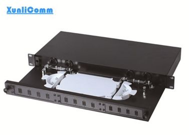 12 Port Fiber Optic Patch Panel , 19 Rack Mount Fiber Patch Panel Rack Mounted