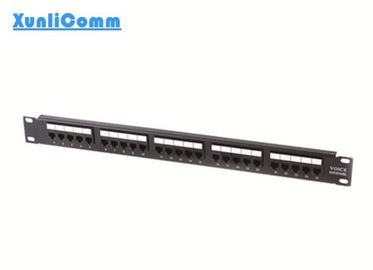 Cat3 25 Port Modular Telephone Patch Panel , Telephone Distribution Panel