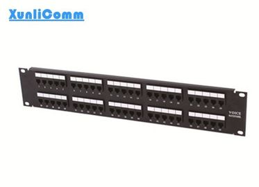 "50 Port 2U 19"" Telephone Patch Panel , RJ45 Patch Panel Mounting In Racks / Cabinets"