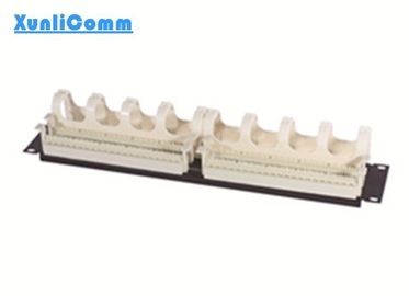 High Density Telephone Patch Panel Fire Self - Extinguish High Impact Plastic