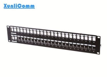 1U 19 Inch Network Patch Panel , 3m Style FTP 48 Port Patch Panel High Stability